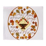 Autumn Second Spring Leaves Throw Blanket