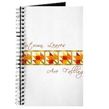 Autumn Leaves Quilt Block Journal