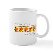 Autumn Leaves Quilt Block Mugs