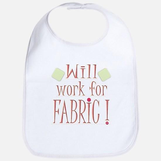 Will Work For Fabric Baby Bib