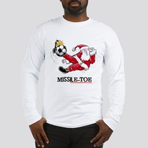 XmasSantaSccr Long Sleeve T-Shirt
