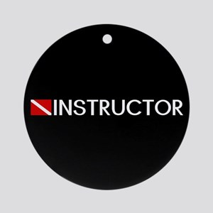 Diving: Instructor & Diving Flag Round Ornament