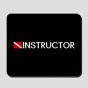 Diving: Instructor & Diving Flag Mousepad