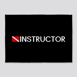 Diving: Instructor & Diving Flag 5'x7'Area Rug