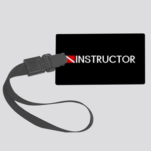 Diving: Instructor & Diving Flag Luggage Tag