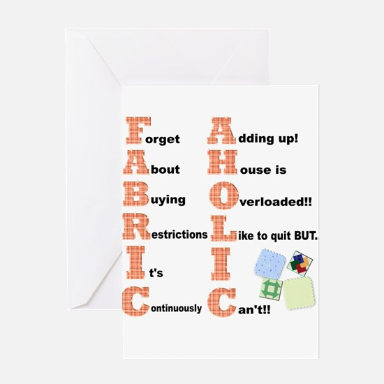 FABRICAHOLIC1.png Greeting Cards