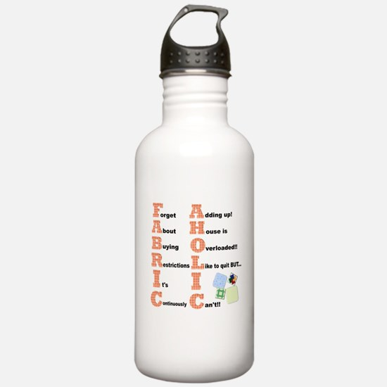 FABRICAHOLIC1.png Water Bottle