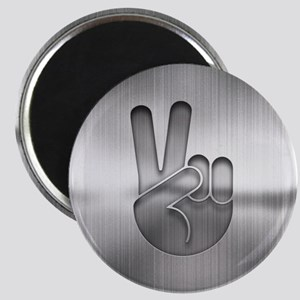 Metal Cutout Peace Magnet