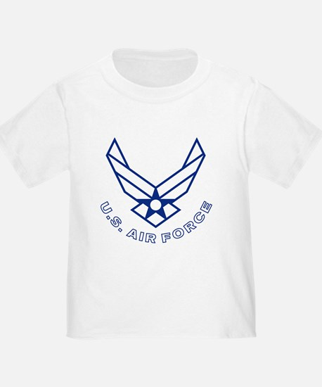 USAF-Symbol-With-Curved-Text-White-O T-Shirt