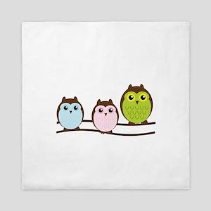 Owl Family Cute Queen Duvet