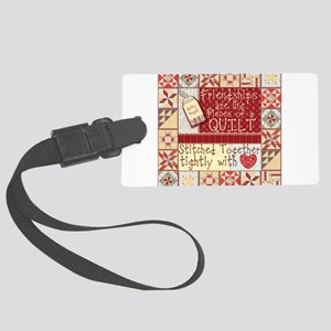 Quilting Friendships Luggage Tag