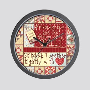 Quilting Friendships Wall Clock
