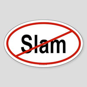 SLAM Oval Sticker