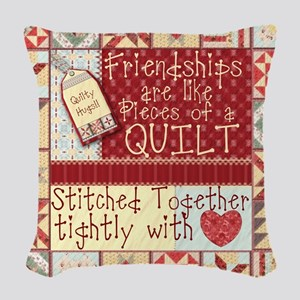 Quilting Friendships Woven Throw Pillow