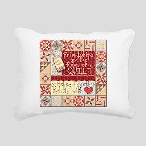 Quilting Friendships Rectangular Canvas Pillow
