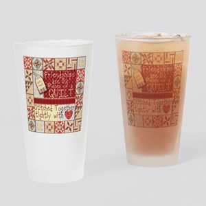 Quilting Friendships Drinking Glass