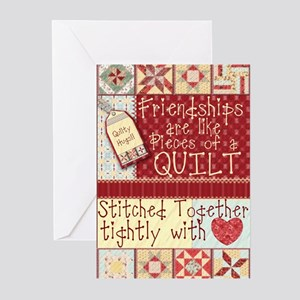 Quilting Friendships Greeting Cards