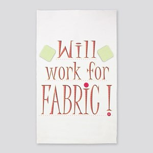 Will Work For Fabric Area Rug