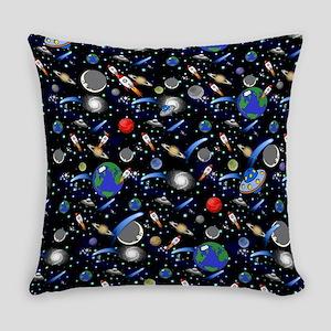 Kids Galaxy Universe Illustrations Everyday Pillow