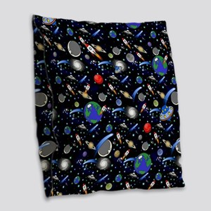 Kids Galaxy Universe Illustrat Burlap Throw Pillow
