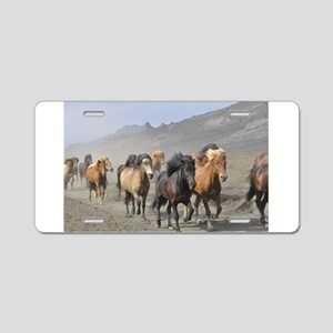 Herd Of Horses Aluminum License Plate