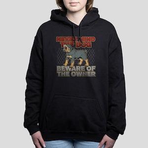 Rottweiler Beware of the Women's Hooded Sweatshirt