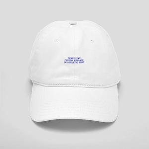 Dark Blue Three Line Custom Message Baseball Cap