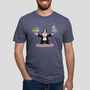 Monopoly - Make It Rain Mens Tri-blend T-Shirt