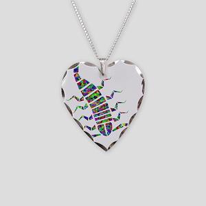 Rainbow Prismatic Scorpion Necklace Heart Charm