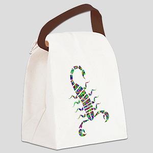 Rainbow Prismatic Scorpion Canvas Lunch Bag