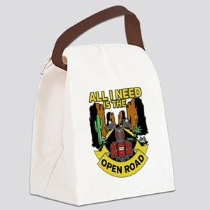 Biker All I need is the Open Road Canvas Lunch Bag