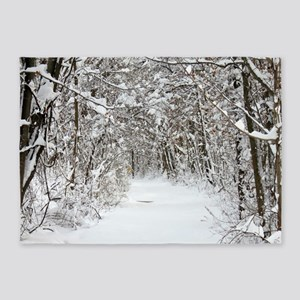 Snow trail 5'x7'Area Rug