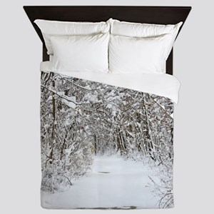 Snow trail Queen Duvet