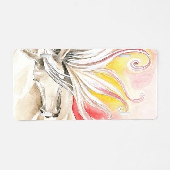 Spanish Sun Horse Aluminum License Plate