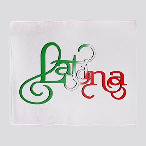 Proud to be a Latina! Throw Blanket