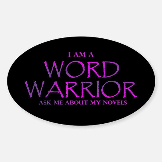 Word Warrior on Black Decal