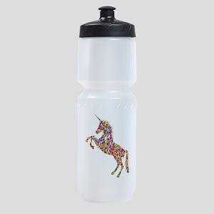 Prismatic Rainbow Unicorn Sports Bottle