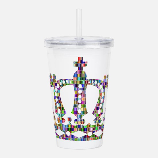 Royal Rainbow Crown Acrylic Double-wall Tumbler