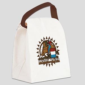 Barrel Racer Canvas Lunch Bag