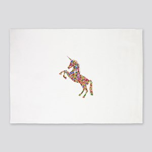Prismatic Rainbow Unicorn 5'x7'Area Rug
