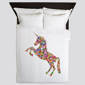 Prismatic Rainbow Unicorn Queen Duvet