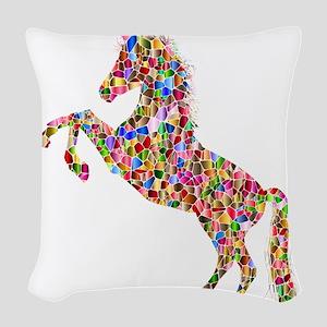 Prismatic Rainbow Unicorn Woven Throw Pillow