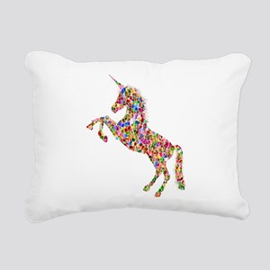 Prismatic Rainbow Unicor Rectangular Canvas Pillow