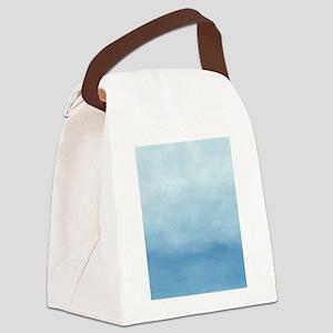 Blue Ombre Watercolor Canvas Lunch Bag