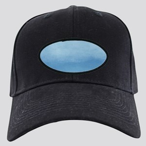 Blue Ombre Watercolor Black Cap