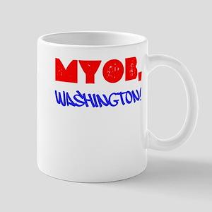 MYOB, Washington! Mug