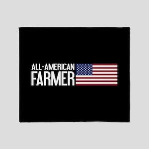 Farmer: All-American (Black) Throw Blanket