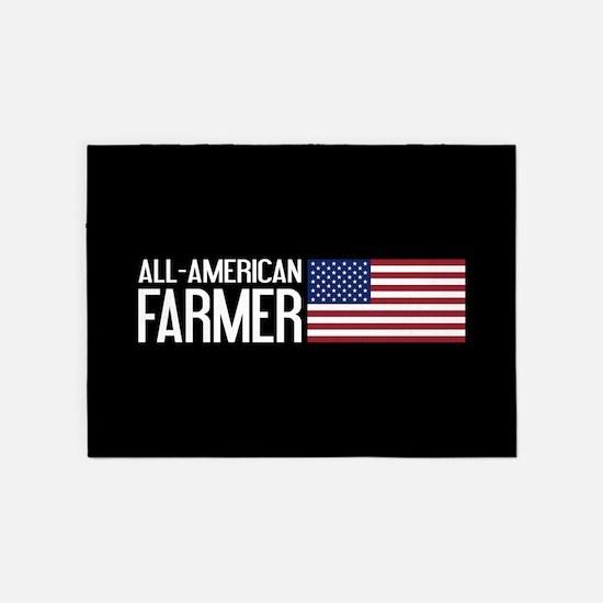 Farmer: All-American (Black) 5'x7'Area Rug
