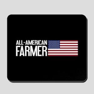 Farmer: All-American (Black) Mousepad