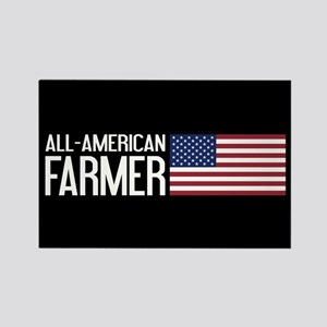 Farmer: All-American (Black) Rectangle Magnet